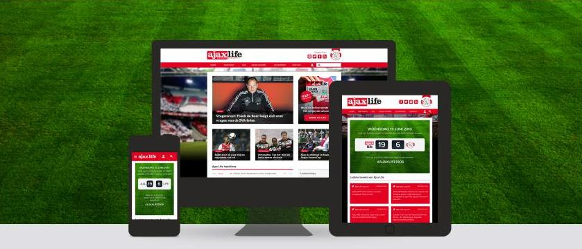new website for the supporters club of dutch soccer team ajax