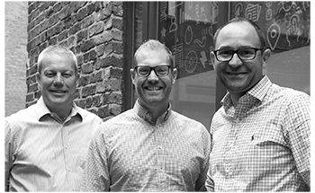 Enjoy Digital - from left to right Chris Jackson, Andy Hey and Jonathan Filewood
